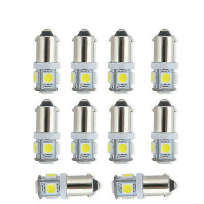 10x White Super Bright For 12VT11 BA9S 5050 SMD 5 LED Car Light Bulb Lamps