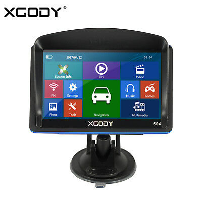 "XGODY 5"" GPS SAT NAV Car Navigation System Newest AU EU Maps Free Update Travel"