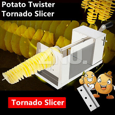 Potato Twister Tornado Slicer Stainless French Potato Cutter Machine Spiral Home