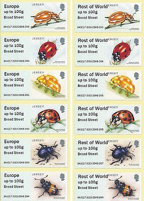 Jersey Post & Go kiosk JE02 BEETLES new values in strips of 6