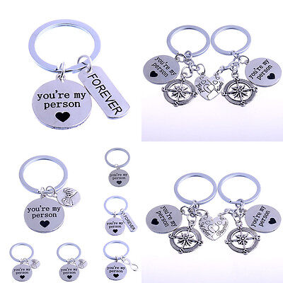 You're My Person Charm Best Friend Mother Daughter Love Heart Keyring Keychain