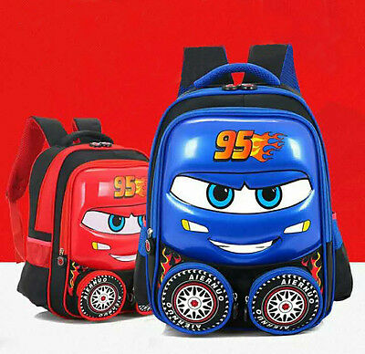 Disney Cars Kids Boys Girls Lightning McQueen School Backpack