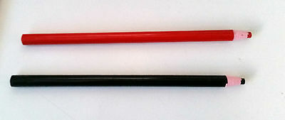 Chinagraph Pencils, China Marker, Grease ,  Wax Pencils Set of 2, Red and Black
