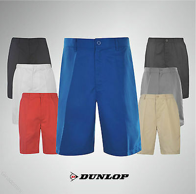 Mens Dunlop Golf Shorts Pant Zip Fly Waist Size 30-42 Black Navy Grey Sand