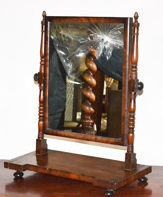 Antique Walnut Framed mahogany Cheval Table Mirror - FREE Shipping [PL3337]