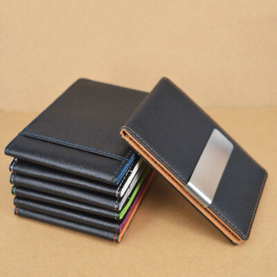 Men's Faux Leather Money Clip Slim Wallet ID Credit Card Holder Purse Proper