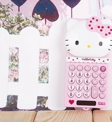 Cute New Red Hello Kitty Calculator School Girl's Gift Toy Stationery