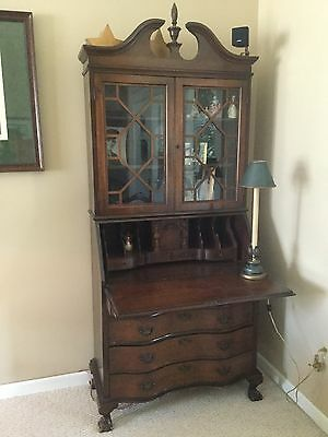 Vintage Secretary Desk With Key