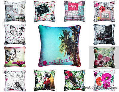Cushion Covers Floral Design Birds And Butterfly Design Cushion Covers 18 x 18