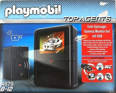 Playmobil Top Agents Wireless Spy Camera Monitor Set USB Toy 4879 Game 7+ Years