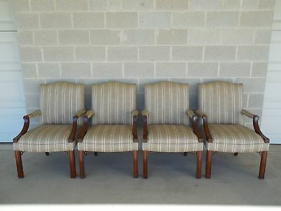 Councill Craftsman Set of 4 Chippendale Style Arm Conference Chairs