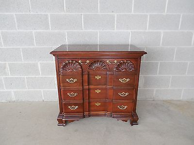 "Thomasville Collectors Cherry Chippendale Style Block Front Goddard Chest ""A"""