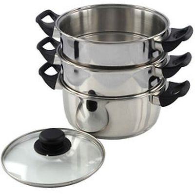Pendeford Stainless Steel Collection 3 Tier Steamer 20cm - SS212