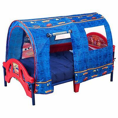 Toddler Bed With Tent Lightning McQueen Boys Bedroom Furniture Cars New