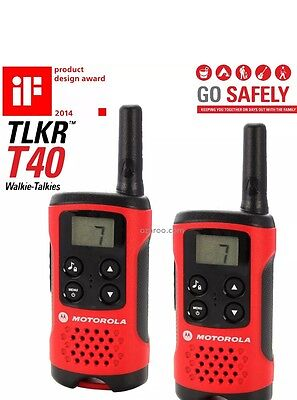** Motorola TLKR T40 2 Way Walkie Talkies Twin Pack **