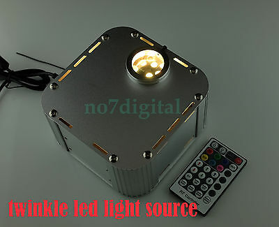 RGB Twinkle fiber optic light source led light box spark effect engine RF remote