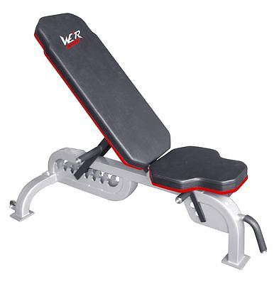 We R Sports Commercial Weight Bench Flat Incline Decline Adjustable Heavy Duty