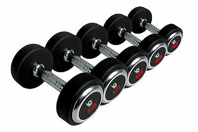 We R Sports Olympic Round Rubber Hex Dumbbells Encased Ergo Gym Weights Sets