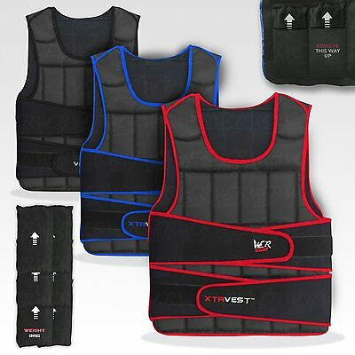 eWe R Sports XTR Weight Weighted Vest Adjustable 5kg To 30kg Running Weight Loss