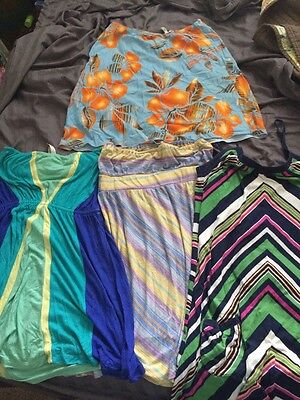 Lot Of 4 Women's Surf Style Dresses Skirt L ROXY O'NEILL