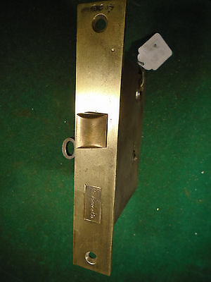 VINTAGE SARGENT BRASS MORTISE LOCK w/ KEY  - THUMB LATCH or TURN KNOB (7206-G)