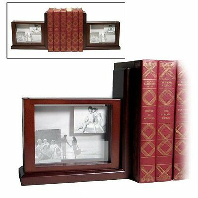 Jordan Mark Books are Fun Solid Wood 3-D Picture Photo Frame Bookends - Pair