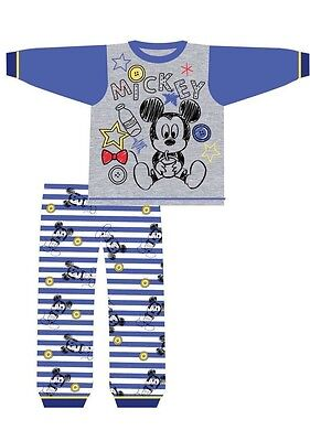 baby boys micky mouse pyjamas(milk)