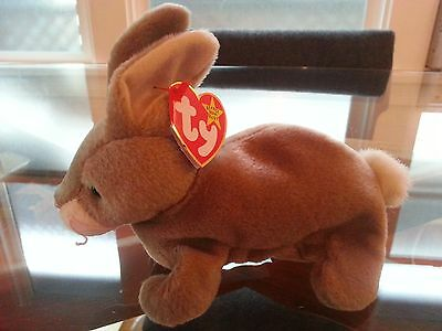 'Nibbly' the Rabbit Ty Beanie Baby - MINT - RETIRED
