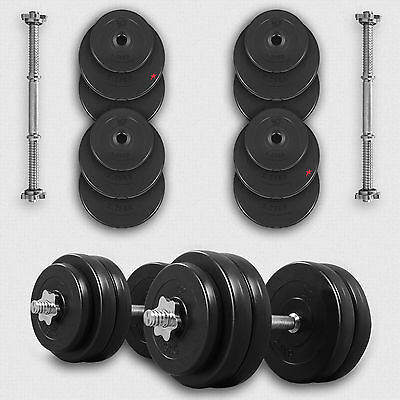 Dumbbell Set Vinyl Gym Weights Fitness Dumbbells Free Weights 10 20 30 40 50Kg