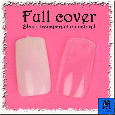 Faux-ongles manucure FULL COVER x120/x240/x360/x500 + colle 2g. - FO