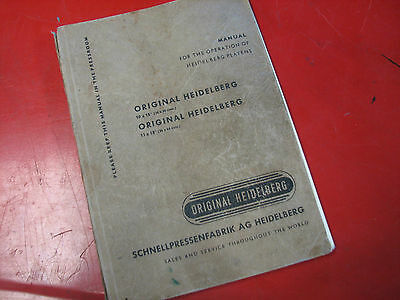 Heildelberg Windmill 10X15 Operation Manual