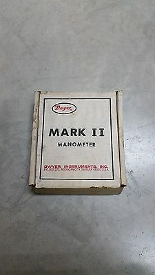 Model 26 Dwyer Mark II Manometer NOS