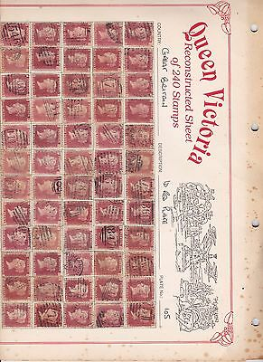 SG 43 penny red plate 105 full reconstruction of 240 stamps AA to TL