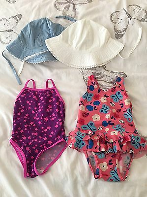 18-24 Months Swimming Costume And Sun Hats