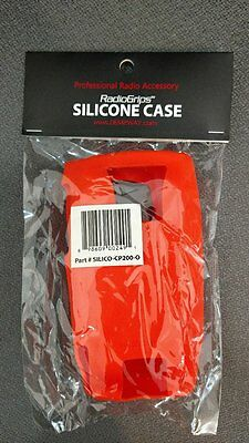 Orange Silicon Case for Motorola CP200 or CP200d Non-Display Radio