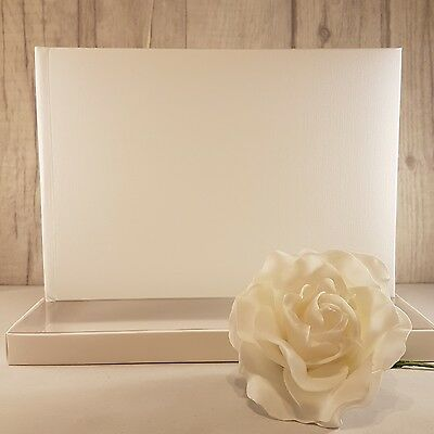 White Blank / Plain Guestbook with box  - Birthdays, Weddings, Christenings  NEW
