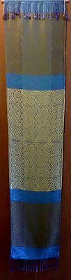 Celtic Knot woven wall hanging Irish Ireland Scottish Fabric Art silk /  Cashmer
