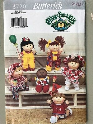 Vintage Butterick Cabbage Patch Kids Sewing Pattern 3720 UC FF Doll Clothes