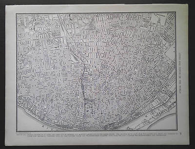 1940 Central Section St. Louis Missouri large vintage city map 11 x 14 inches