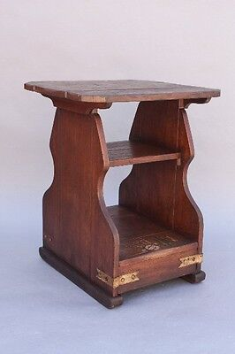 1930s Monterey Period Nightstand Hand Painted Antique Rancho Table (9565)