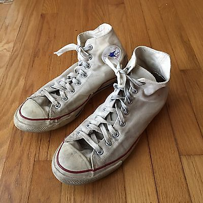 "VTG Converse All Star Chuck Taylor High Tops ""BLUE LABEL"" Made In USA."