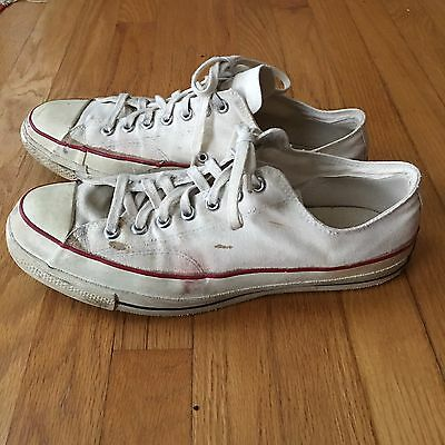 "VTG Converse All Star Chuck Taylor Low Tops ""BLUE LABEL"" Made In USA."