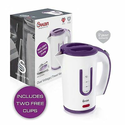 New Swan Electric Travel Kettle Small Compact Inc 2 Cups Camping Caravan Kettle