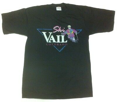 Vintage POLY TEES T Shirt ~ SKI VAIL COLORADO ~ dated 1992 (like-new condition)