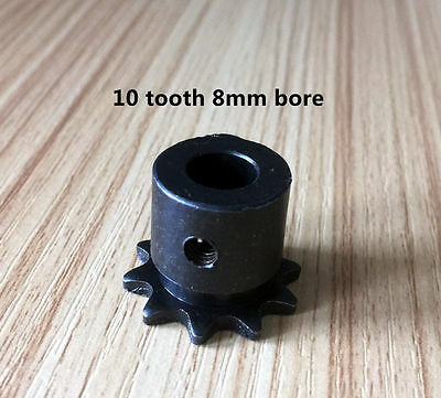 #25 Roller Chain SPROCKET 10 tooth bore 8 mm