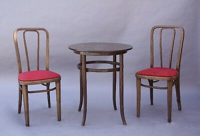 1910 Set of Thonet Wood Chairs & Table Antique Vintage Furniture (9494)