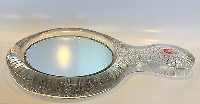 Vintage Sasaki Crystal Glass Hand Mirror Made In Japan $35 Free Post