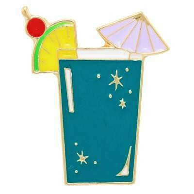 Cocktail Enamel Pin Badge Retro Drink Kitsch Lapel Fun Aussie Seller Tiki Bar