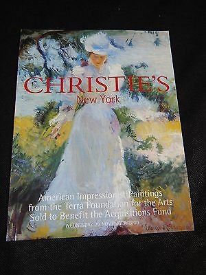 """Christie's Auction Catalog """"american Impressionist Paintings"""" November 2000"""