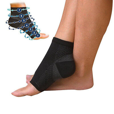 2PCS Ankle Support Brace Elastic Compression Wrap Sleeve Sports Relief Pain Foot